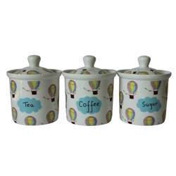 Kanika Kitchen Canister Set of 3