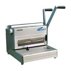 Eagle 3:1 Wire Binding Machine CW300 (Wire -Manual-34 Pin) - Grey/Silver