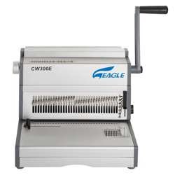 Eagle 3:1 Wire Binding Machine CW300E (Wire -Electric-34 Pin) - Grey/Silver