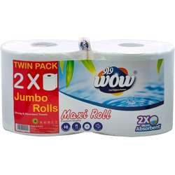 WOW Maxi Roll Twin Pack x 2 Ply