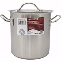 Chefset Steel Stock Pot With Lid 55cm