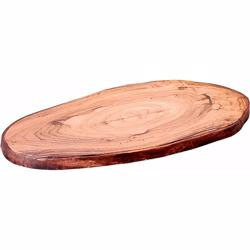 Dinewell Oval Wooden Platter 16""