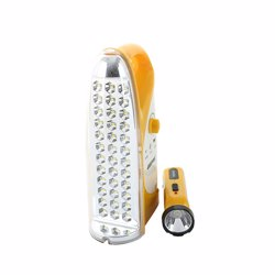 Geepas GEFL4664 Rechargeable LED Lantern with Torch - Yellow