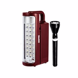 Geepas GEFL51029 Rechargeable LED Lantern and Flash Light Combo, 12V