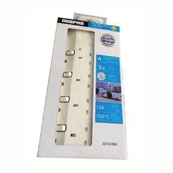 Geepas GES4084 4 Way 3meter Sockets Extension Board