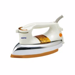 Geepas GDI2271 Dry Iron with Non-Stick Teflon Coated Plate