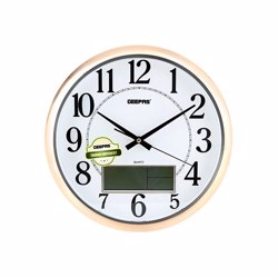 Geepas GWC 4802 Wall Clock with LCD display