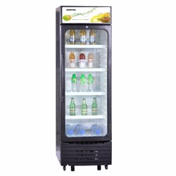 Geepas GSC6548 Show Case Nofrost Single Door Fridge, 280L - Black preview