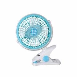 Geepas GF9627 Light Cyan Rechargeable Clip Fan
