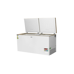Geepas GCF55019WAH Double Door Chest Freezers, 550 L
