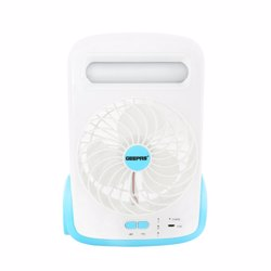 Geepas GF9618 Rechargeable Mini Fan with LED & Torch, 5inch