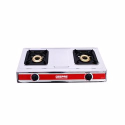 Geepas GK6856 Stainless Steel Double Gas Burner