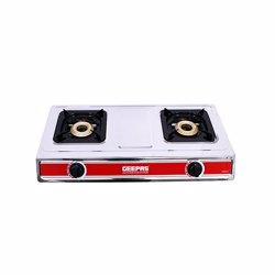 Geepas GK6856 Stainless Steel Double Gas Burner