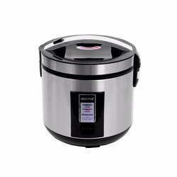 Geepas GRC4330 Stainless Steel Rice Cooker with Non-stick Innerpot, 1.8L