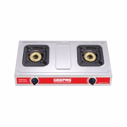 Geepas GK6898 Stainless Steel Double Gas Cooker
