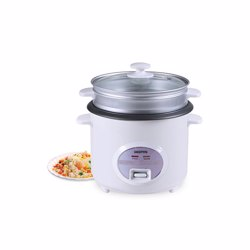 Geepas GRC35018UK 3-in-1 Rice Cooker with Non-stick Innerpot, 1.8L