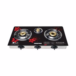 Geepas GK6759 Stainless Steel Gas Cooker with Hard Glass Top