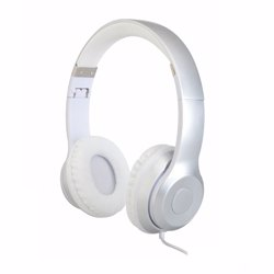 Geepas GHP4709 Stereo Headphone with Microphone, Silver