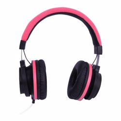 Geepas GHP4710 Stereo Headphone with Microphone, Red