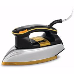 Black+Decker 1200W Heavy Weight Dry Iron, Black/Gold - F550-b5