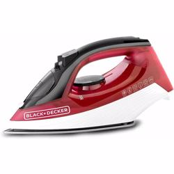 Black+Decker 1600W Steam Iron With Self Clean, Red - X1550-B5