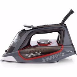 Black+Decker 2200W Steam Iron Ceramic Soleplate with Self Clean, Multicolour - X2050-b5