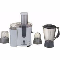 Black+Decker 500W Four-in-One Juicer, Blender, Mincer & Grinder, White - JBGM600-B5