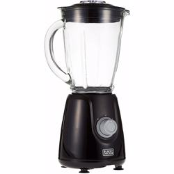 Black+Decker 400W Blender with Glass Jar and 2 Grinding Mill, Black - Blender with 1 Jar + 2 Mills