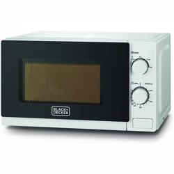 Black+Decker 20 Liter Microwave Oven with Defrost Function, Black - MZ2020-B5