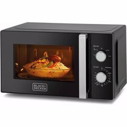 Black+Decker Microwave Oven, Black, 20 litres, Mz2010P-B5