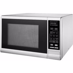 Black+Decker 30 Liter Combination Microwave Oven with Grill, Silver - MZ3000PG-B5