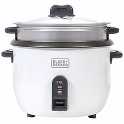 Black+Decker Rice Cooker 1100W, White, 2.8 litres, Rc2850-B5 preview