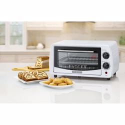 Black+Decker 9L Double Glass Multifunction Toaster Oven for Toasting/ Baking/ Broiling, White - TRO9DG-B5