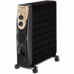 Black+Decker 2500W 13 Fin Oil Radiator Heater With Fan Forced, Black - OR013FD-B5