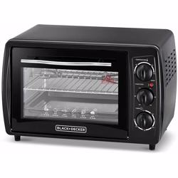 Black+Decker Double Glass Toaster Oven with Rotisserie, TRO19RDG-B5 - Black, 19 litre