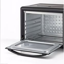 Black+Decker Double Glass Toaster Oven with Rotisserie, Black, 55 litres, Tro55Rdg-B5