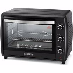 Black+Decker Double Glass Toaster Oven with Rotisserie, Black, 70 litres,Tro70Rdg-B5