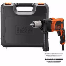 Black+Decker Corded Drill with Kitbox 850W, BEH850K-GB