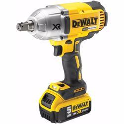 Dewalt DCF899P2-GB High Torque Impact Wrench 18V Cordless Brushless (2 x 5Ah Batteries), Yellow/Black, 2 x 5.0Ah Li-Ion