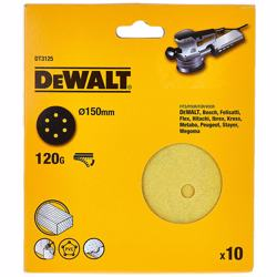 Dewalt 150mm Sanding Discs Pack Of 10 - Dt3125-qz