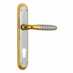 Yale YA-17-SC /G Cambridge Euro Handle for Main Door - Satin Chrome/Gold preview