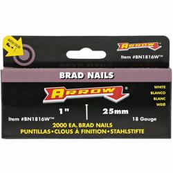 "Arrow Bn1816W Brad Nails 1"" - White"